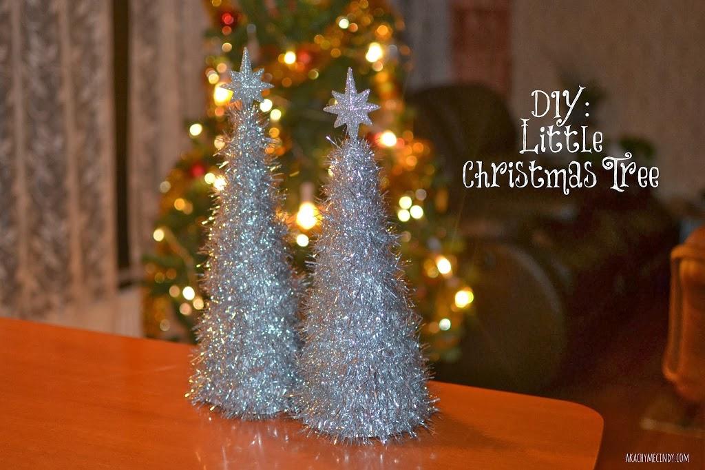Diy Shinny Little Christmas Tree Aka Chymecindy